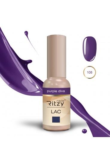"""Ritzy gelinis lakas """"Purple diva """" 9ml"""